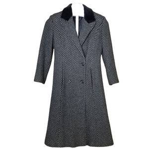 Christian Dior Peak Lapel Trench Coat Black & Gray